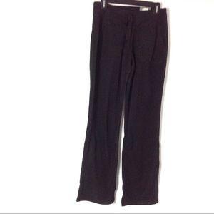 New Women Fleece Black Pant Size S Drawstring